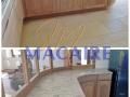 plan travail-cuisine-granit-claire-blanc-veiné-cuir-moderne-cuisine design-pierre naturel-sur mesure-ilot central