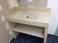 vasque en pierre-salle de bain-beige-claire-crème-marbre